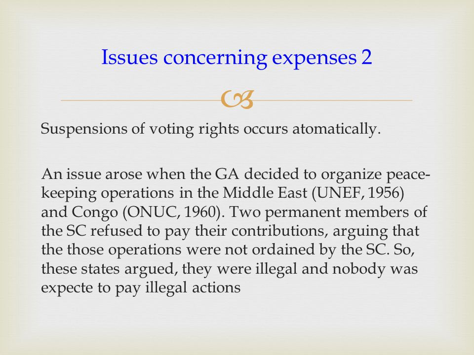  ICJ Opinion 1962 : Do missions authorized by the SC fall within the meaning of 'expenses of the Org.' under Article 17 UN Treaty.