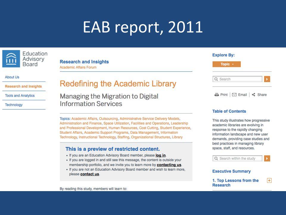EAB report, 2011