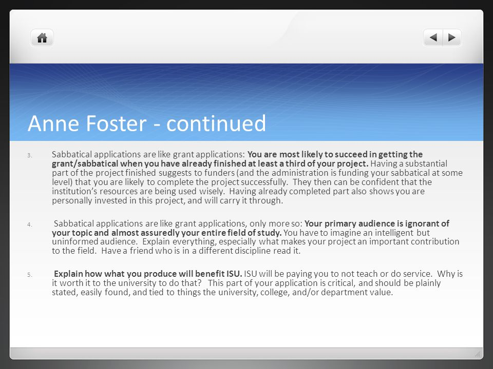 Anne Foster - continued 3.