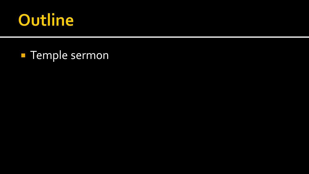  Temple sermon