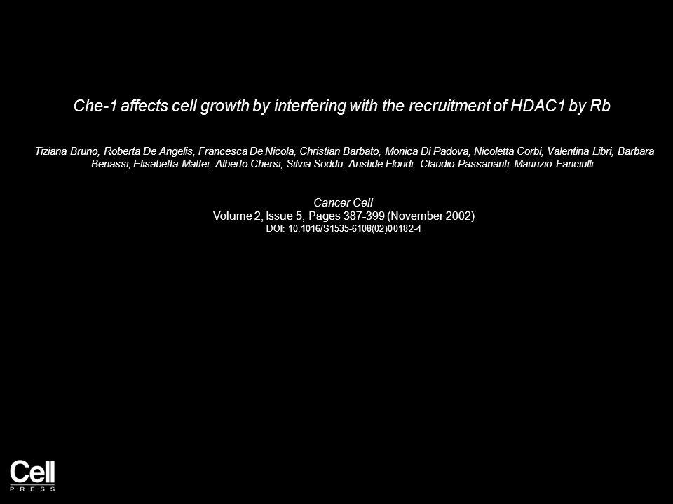 Figure 1 Cancer Cell 2002 2, 387-399DOI: (10.1016/S1535-6108(02)00182-4)