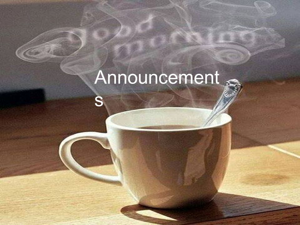 Announcement s