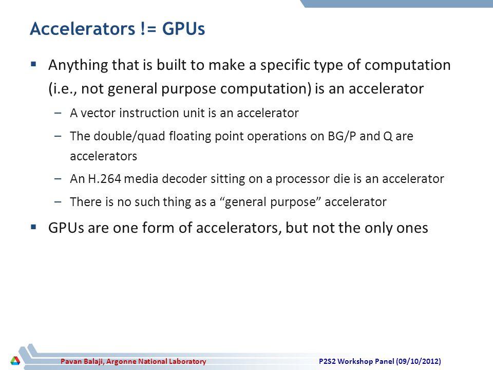 Pavan Balaji, Argonne National Laboratory Divergence in Accelerator Computing.