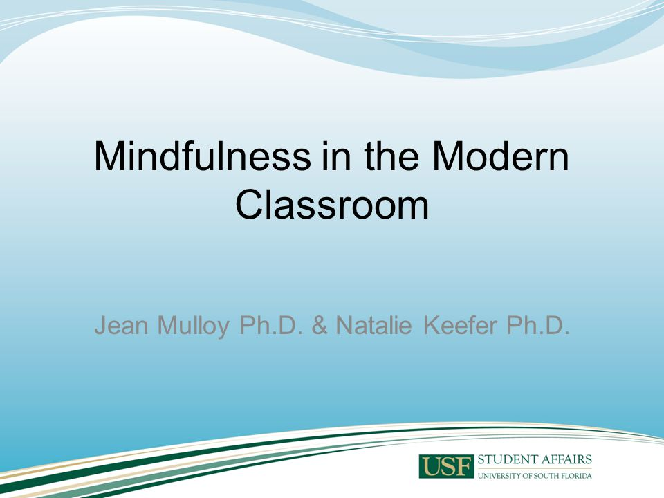 Overview Experience mindfulness Health and Wellness benefits Mindfulness in the college curriculum Examples and Experiences