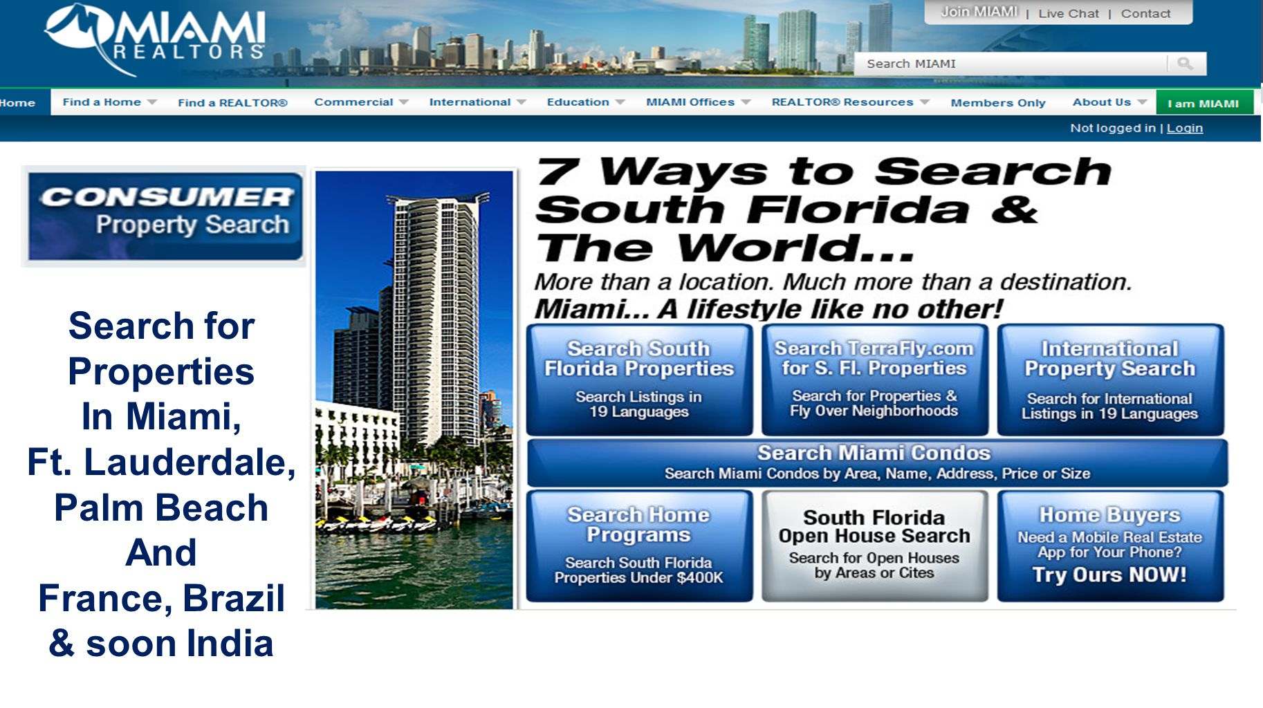 MiamiRE.co m Search for Properties In Miami, Ft.