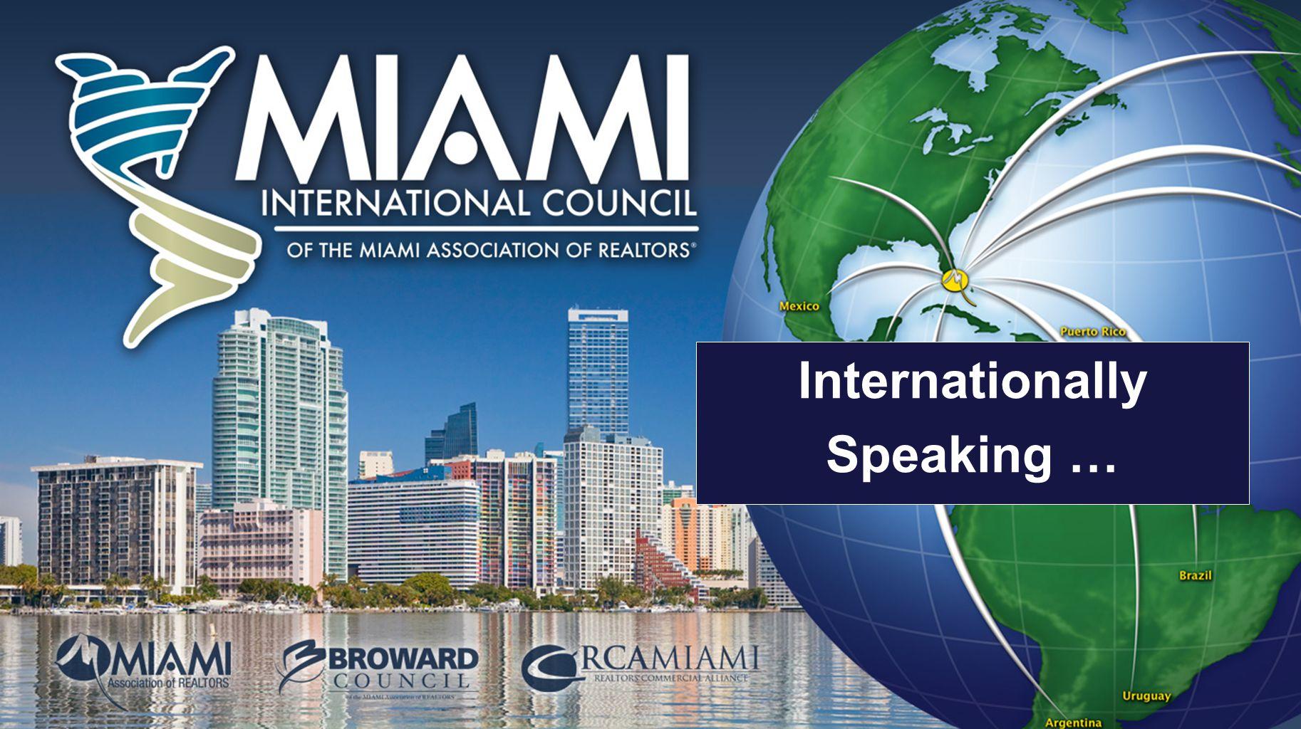 Internationally Speaking …