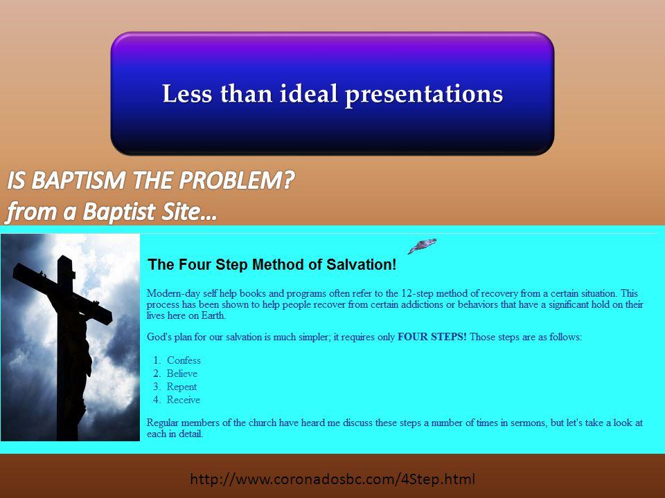 http://www.coronadosbc.com/4Step.html Less than ideal presentations