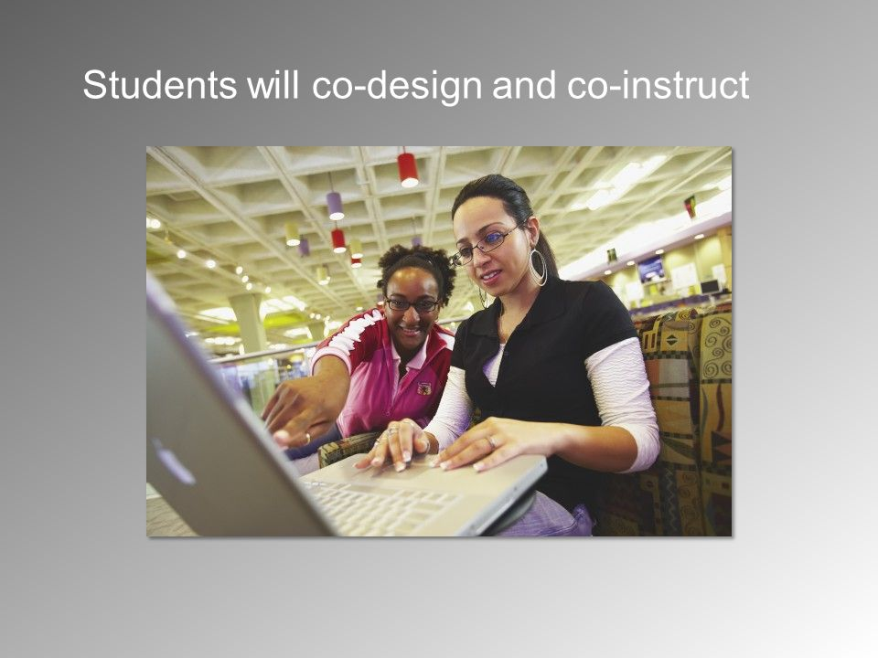 Students will co-design and co-instruct