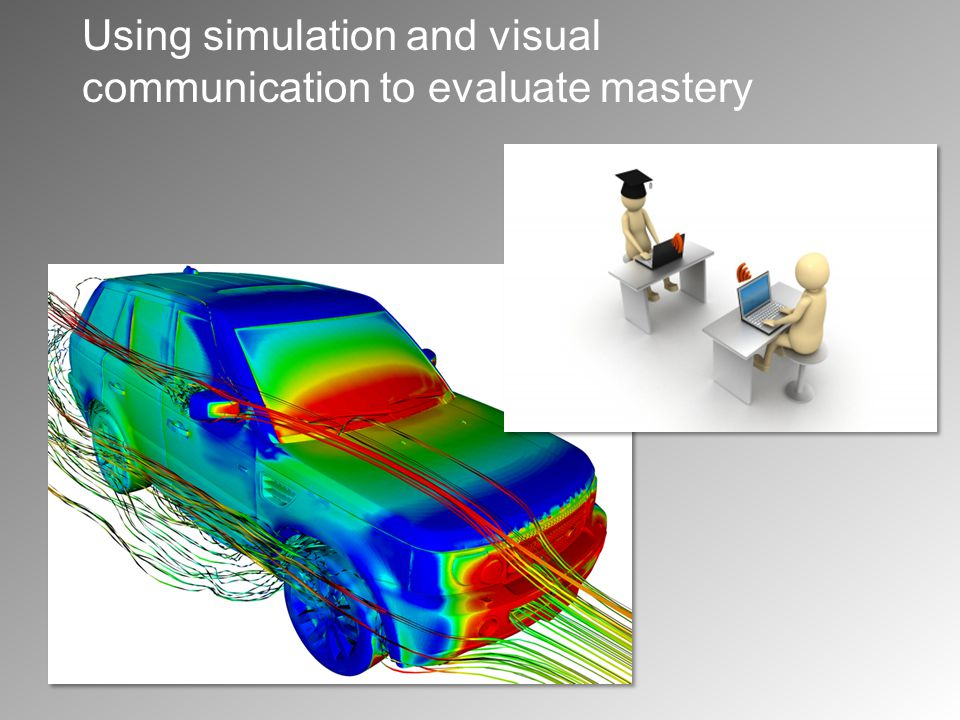 Using simulation and visual communication to evaluate mastery