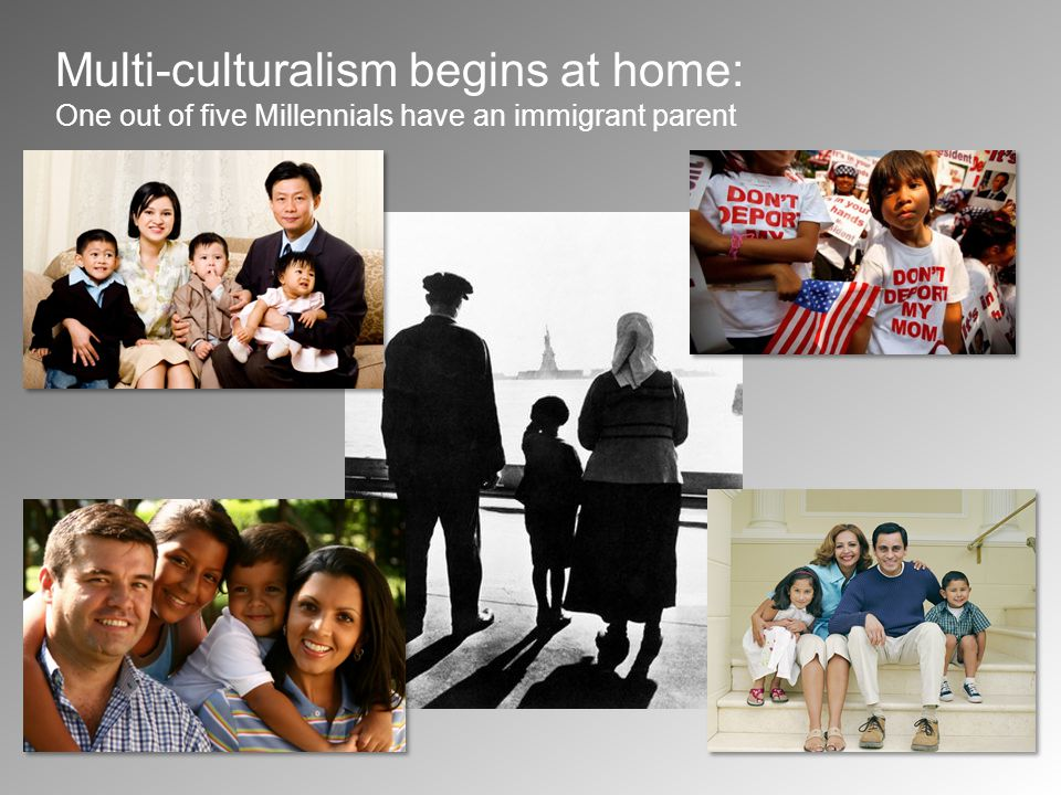 Multi-culturalism begins at home: One out of five Millennials have an immigrant parent