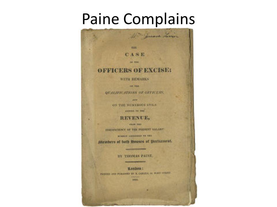 Paine Complains
