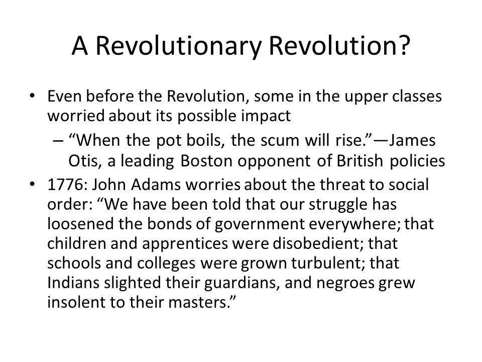 A Revolutionary Revolution.
