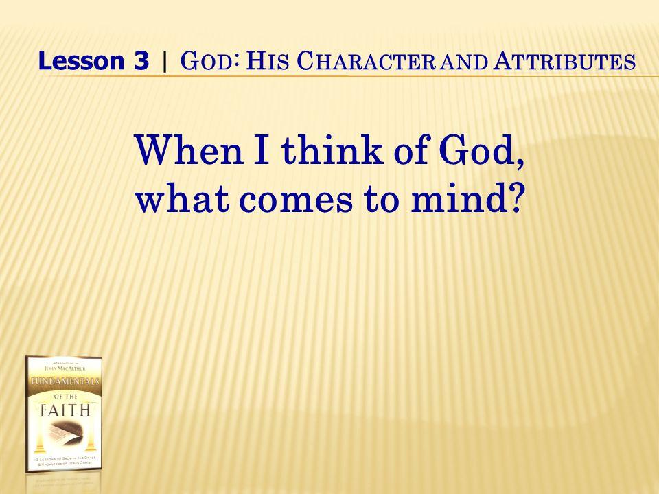 IV.God's Attributes B.God's attributes defined 2.