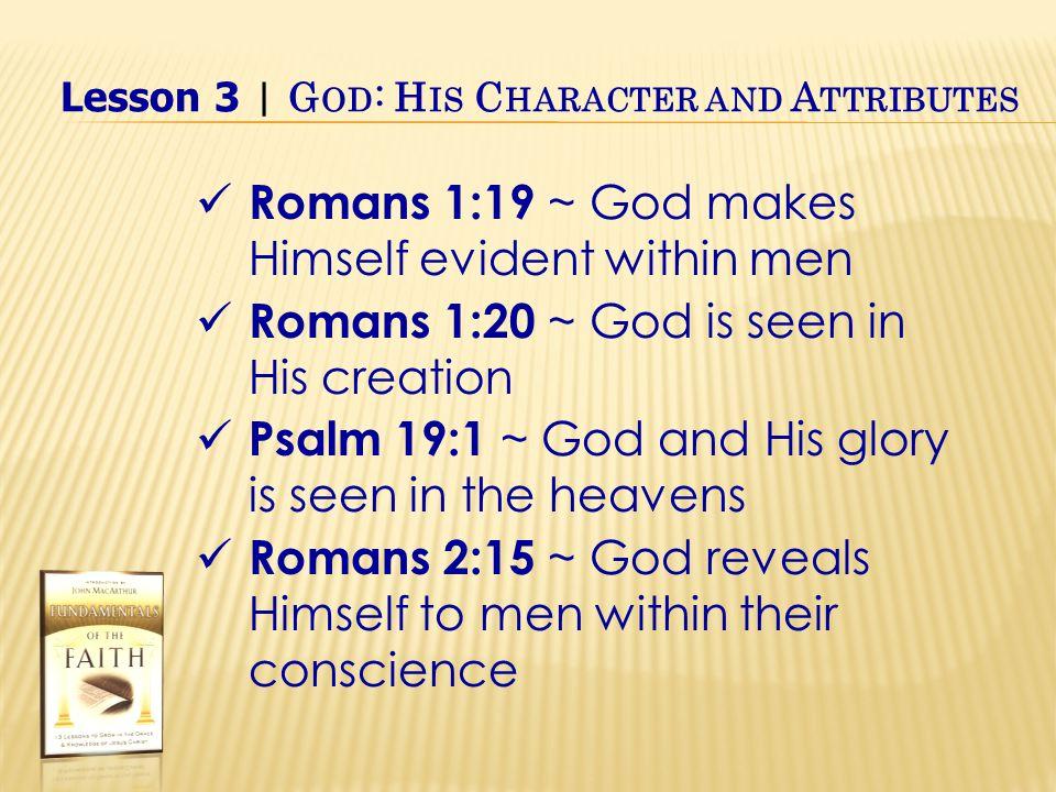 Exalt Him as God Worship at His holy hill IV.God's Attributes B.