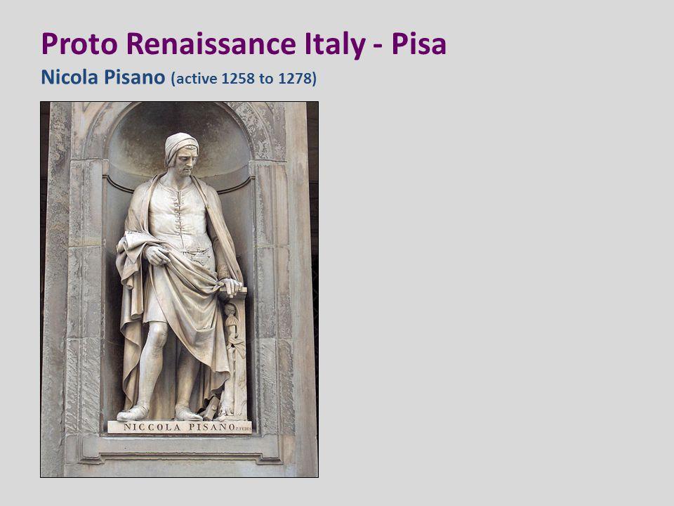 Proto Renaissance Italy - Pisa Nicola Pisano (active 1258 to 1278)