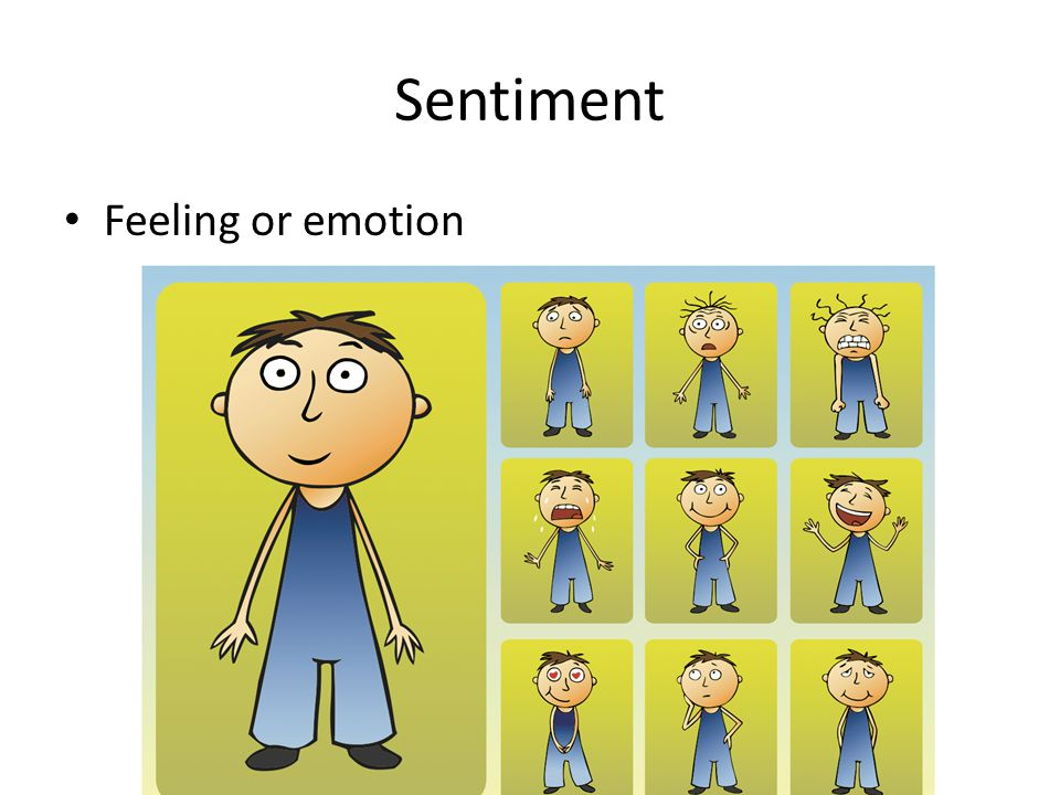 Sentiment Feeling or emotion