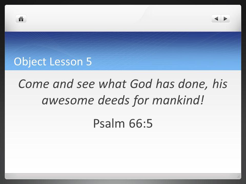 Object Lesson 6 Do not make any idols. Exodus 34:17