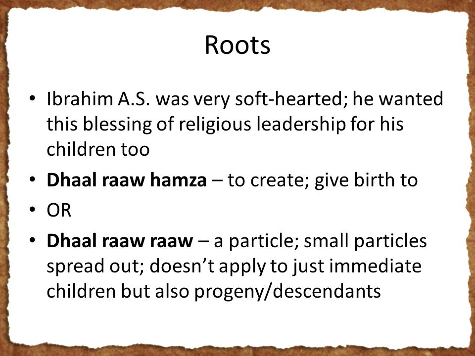 Roots Ibrahim A.S.