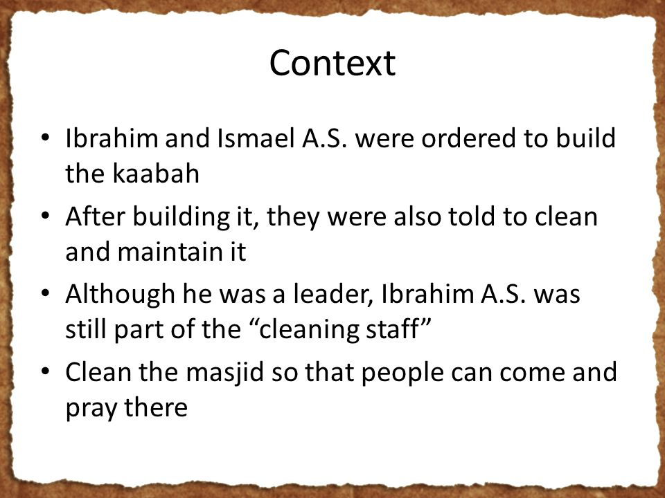 Context Ibrahim and Ismael A.S.