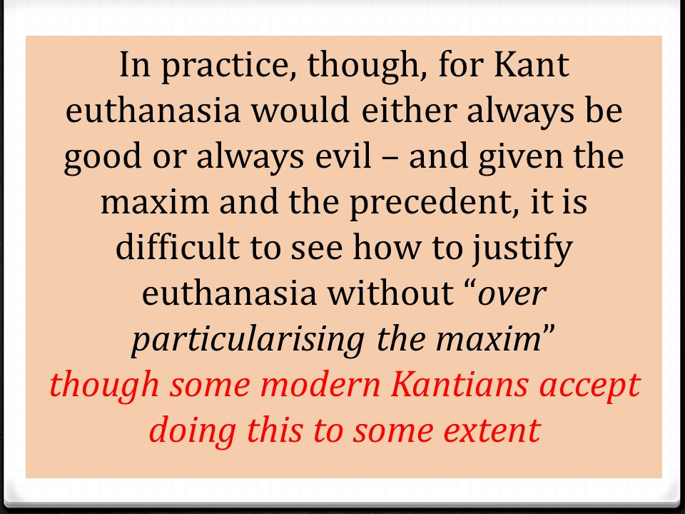 """Kant 0 Kant believed that human beings are """"pathologically loving"""" 0 We are also rational beings and are disposed to make decisions on the basis of wh"""