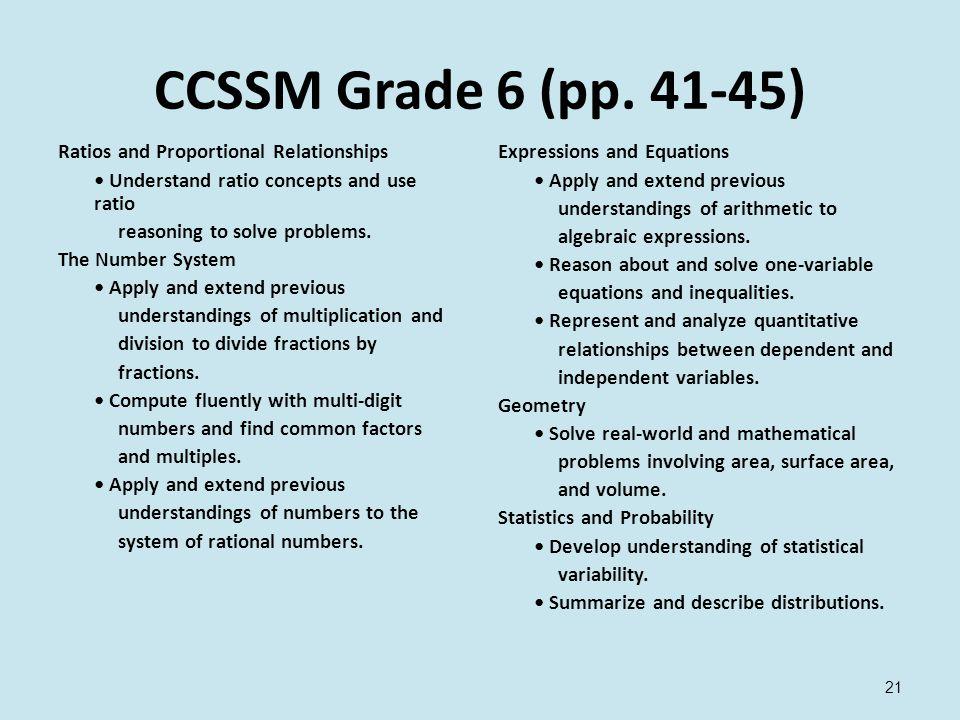 CCSSM Grade 6 (pp.