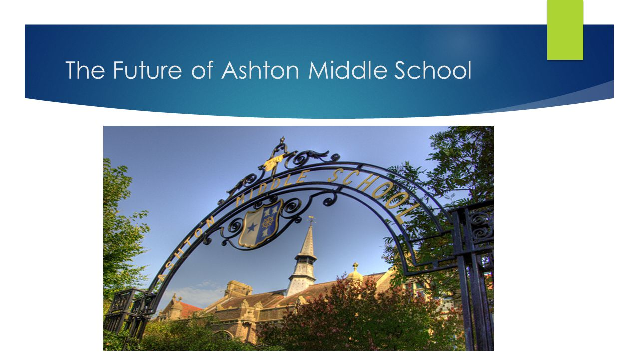 The Future of Ashton Middle School