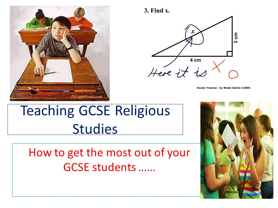 Teaching GCSE Religious Studies How to get the most out of your GCSE students ……