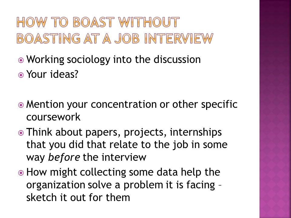  Working sociology into the discussion  Your ideas.