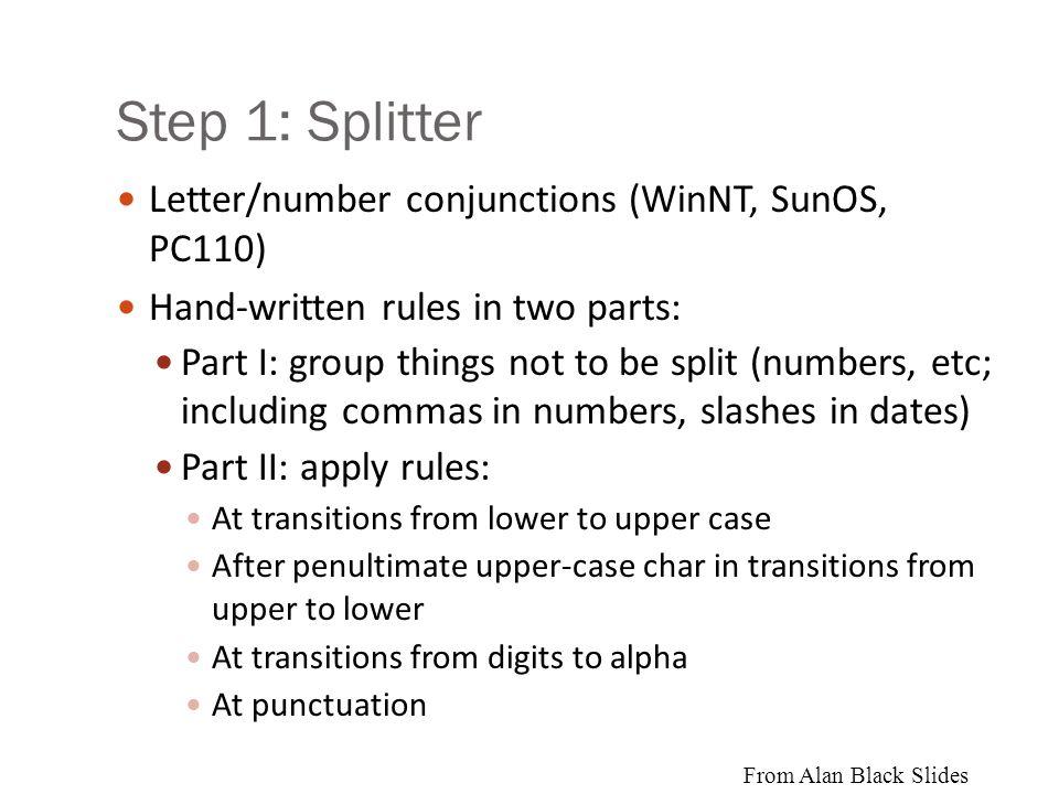 4 steps to Sproat et al.