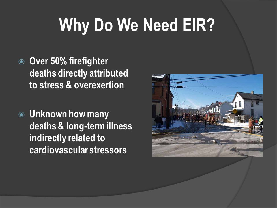 Why Do We Need EIR.