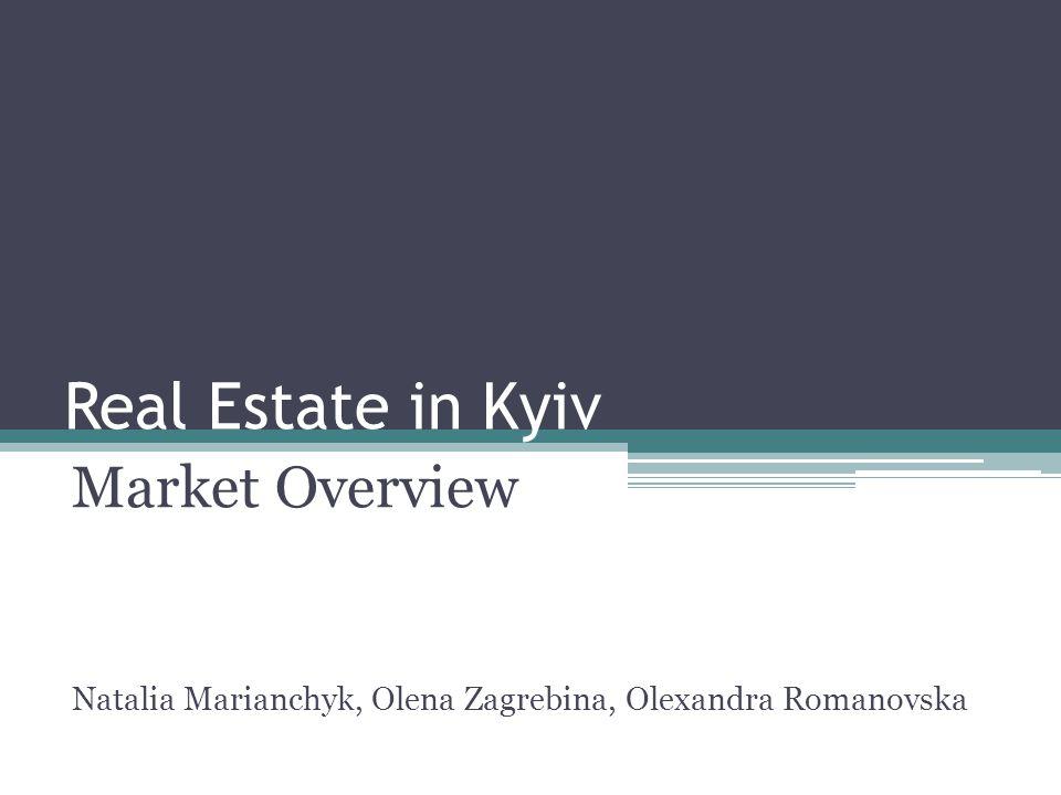 Real Estate in Kyiv Market Overview Natalia Marianchyk, Olena Zagrebina, Olexandra Romanovska