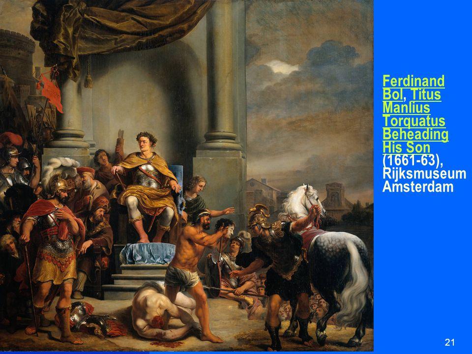 HUI21621 Ferdinand BolFerdinand Bol, Titus Manlius Torquatus Beheading His Son (1661-63), Rijksmuseum AmsterdamTitus Manlius Torquatus Beheading His Son
