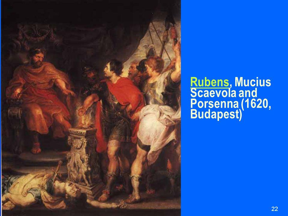 HUI21622 RubensRubens, Mucius Scaevola and Porsenna (1620, Budapest)