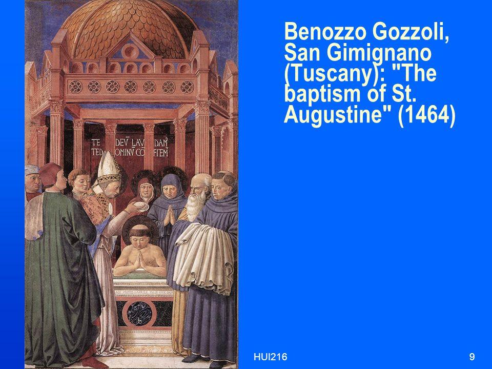 HUI2169 Benozzo Gozzoli, San Gimignano (Tuscany): The baptism of St. Augustine (1464)