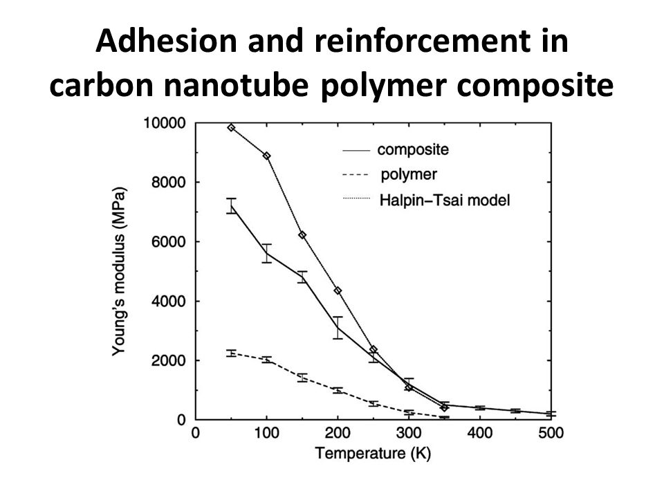 Adhesion and reinforcement in carbon nanotube polymer composite