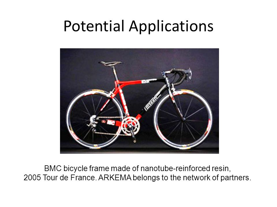 BMC bicycle frame made of nanotube-reinforced resin, 2005 Tour de France.