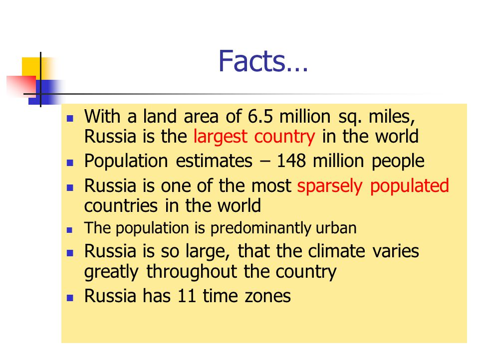 Facts… With a land area of 6.5 million sq.