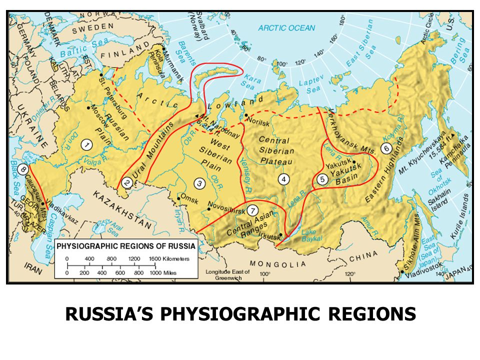 RUSSIA'S PHYSIOGRAPHIC REGIONS