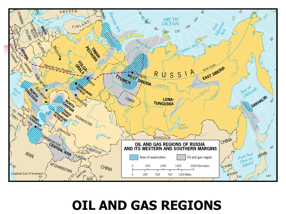 OIL AND GAS REGIONS