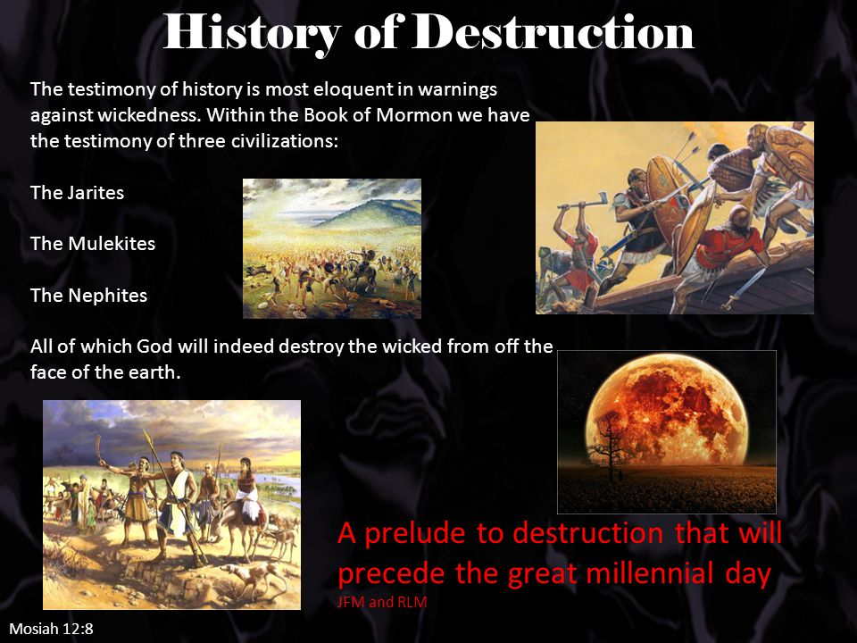 The testimony of history is most eloquent in warnings against wickedness.