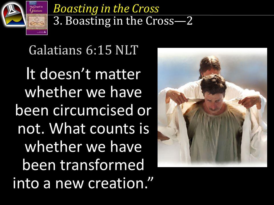 Boasting in the Cross 3.