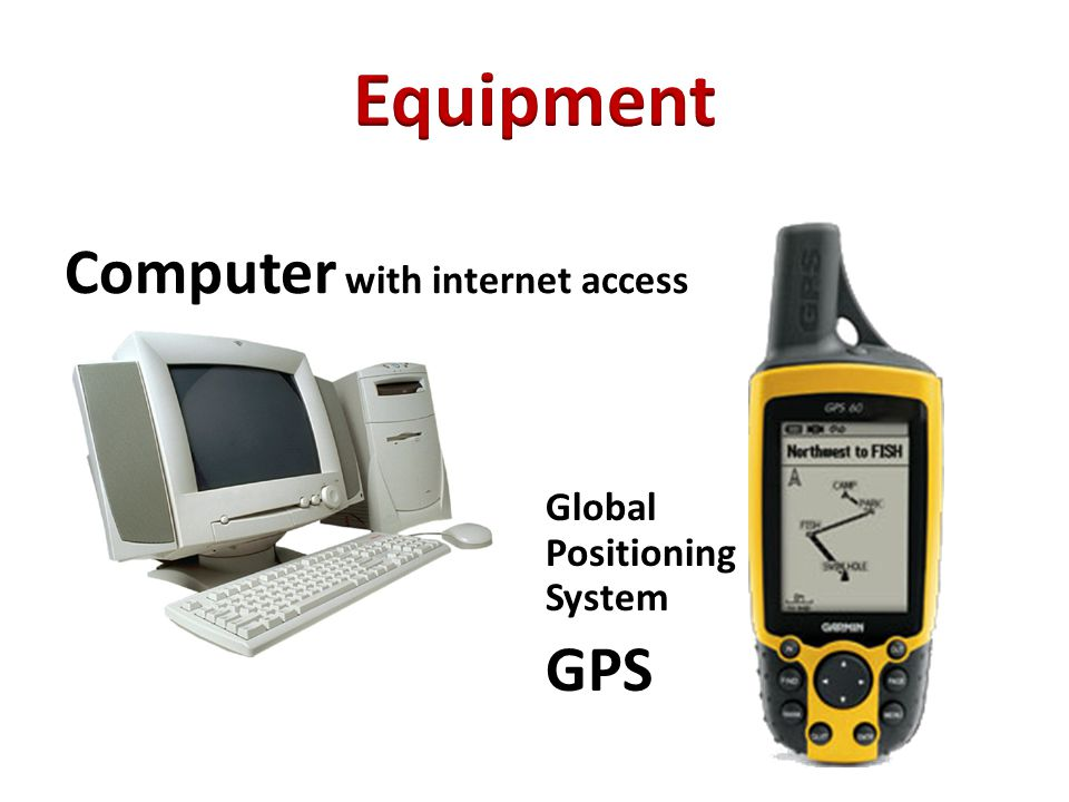 Global Positioning System GPS Computer with internet access