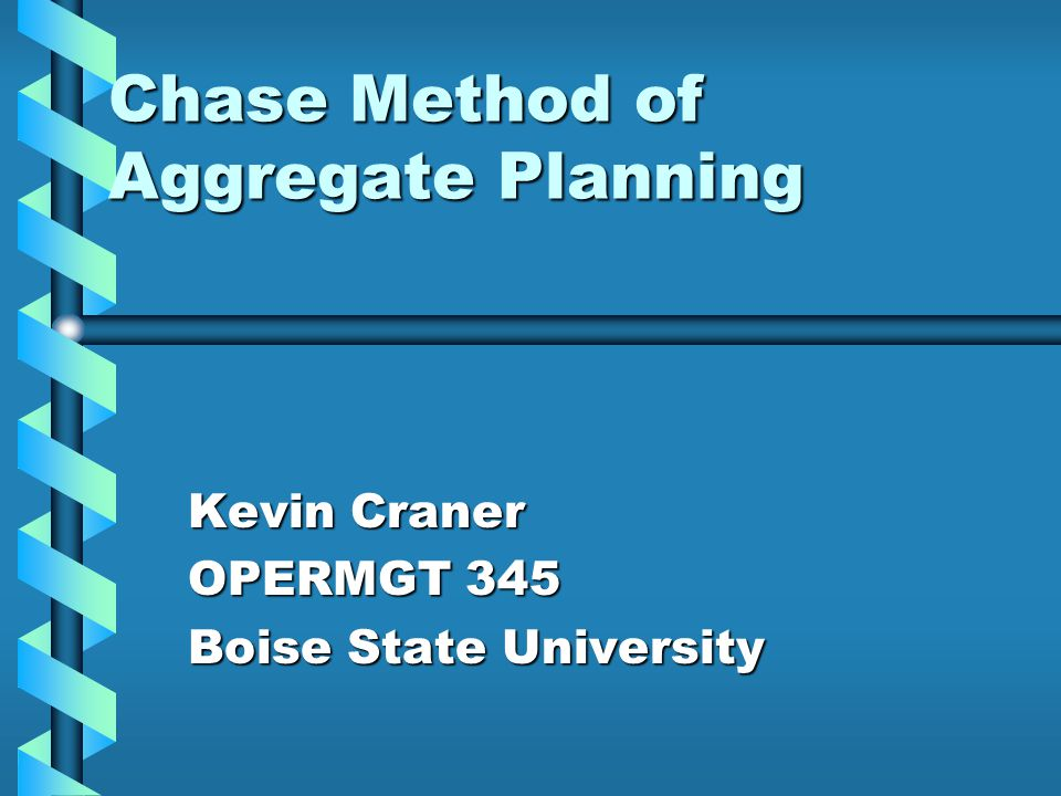 Overview What is aggregate planning?What is aggregate planning.