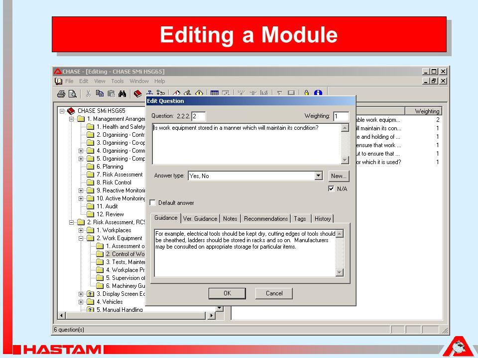 Editing a Module
