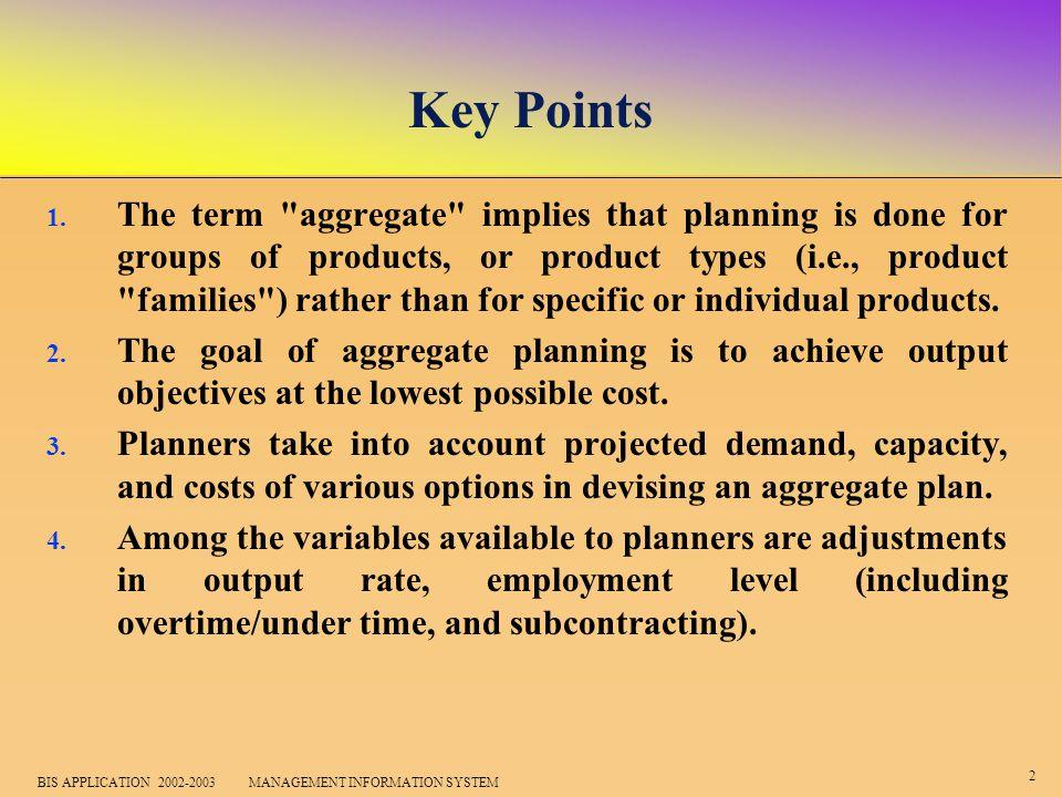 2 BIS APPLICATION 2002-2003 MANAGEMENT INFORMATION SYSTEM Key Points 1.