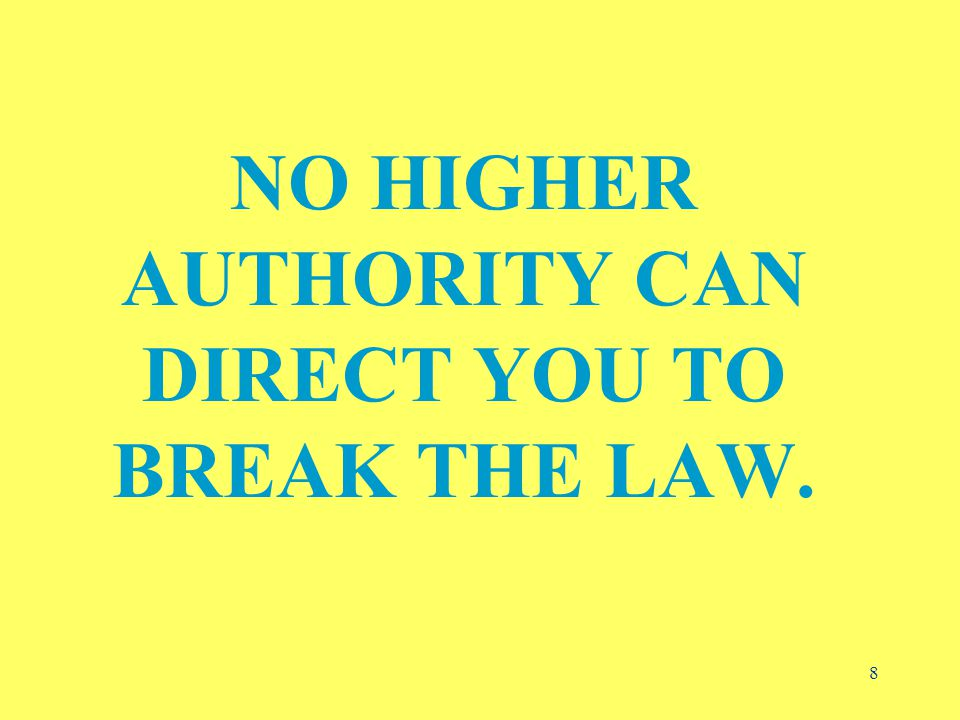 9 IF YOU BREAK THE LAW, YOU ARE LIABLE, NOT THE UNIVERSITY…