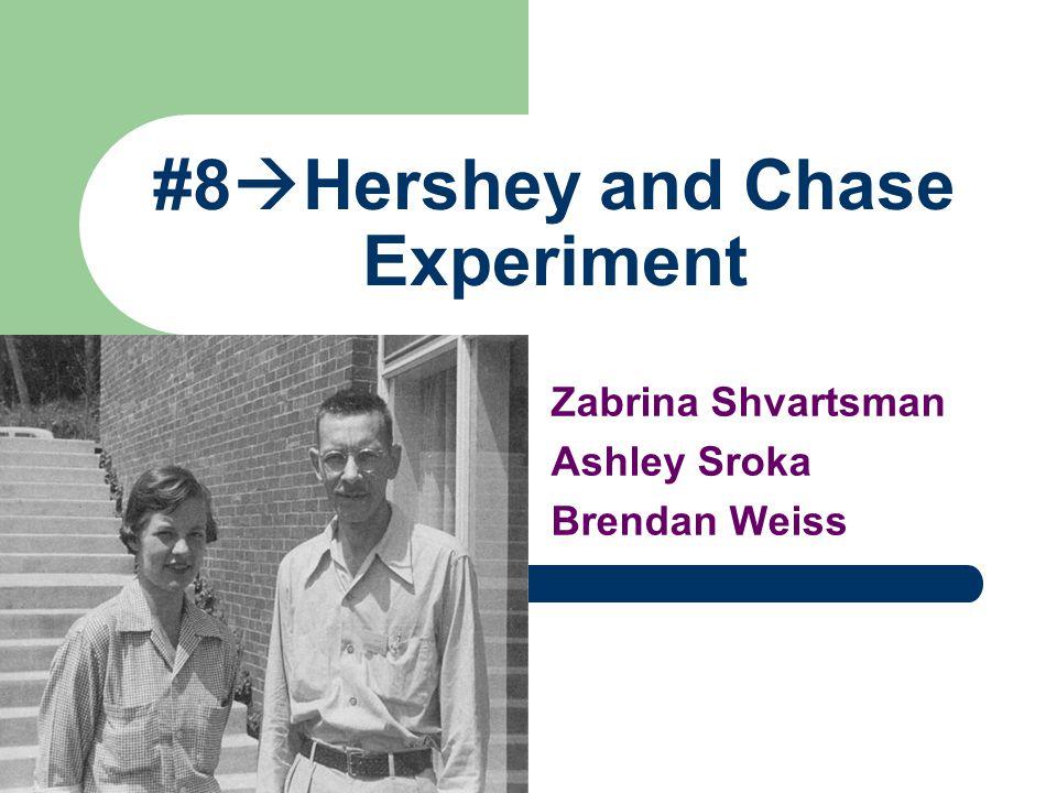 #8  Hershey and Chase Experiment Zabrina Shvartsman Ashley Sroka Brendan Weiss