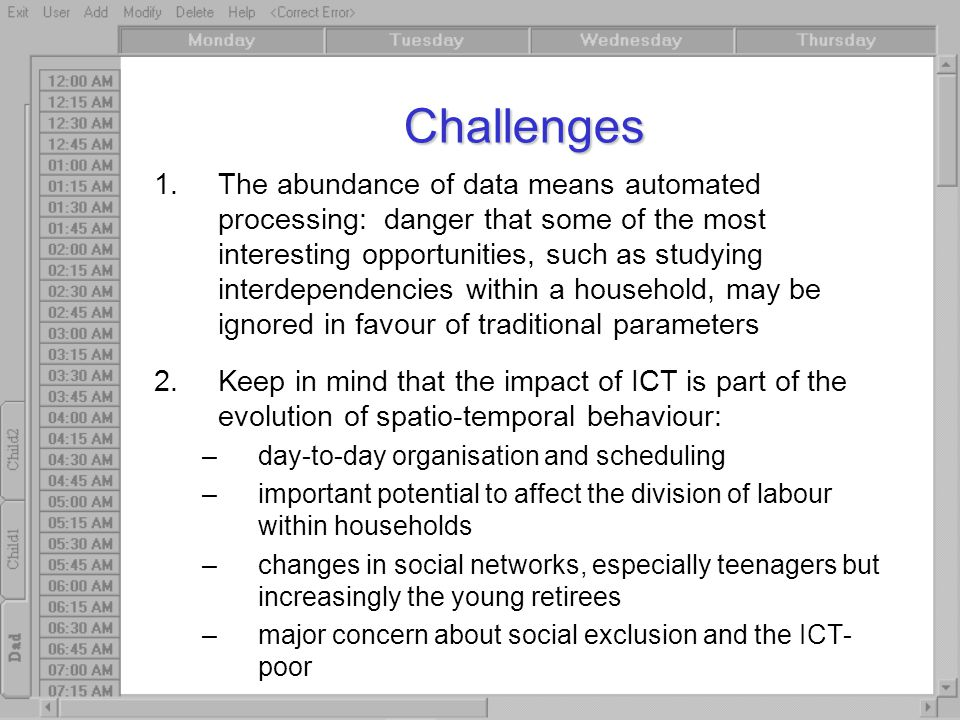 Challenges 1.The abundance of data means automated processing: danger that some of the most interesting opportunities, such as studying interdependenc
