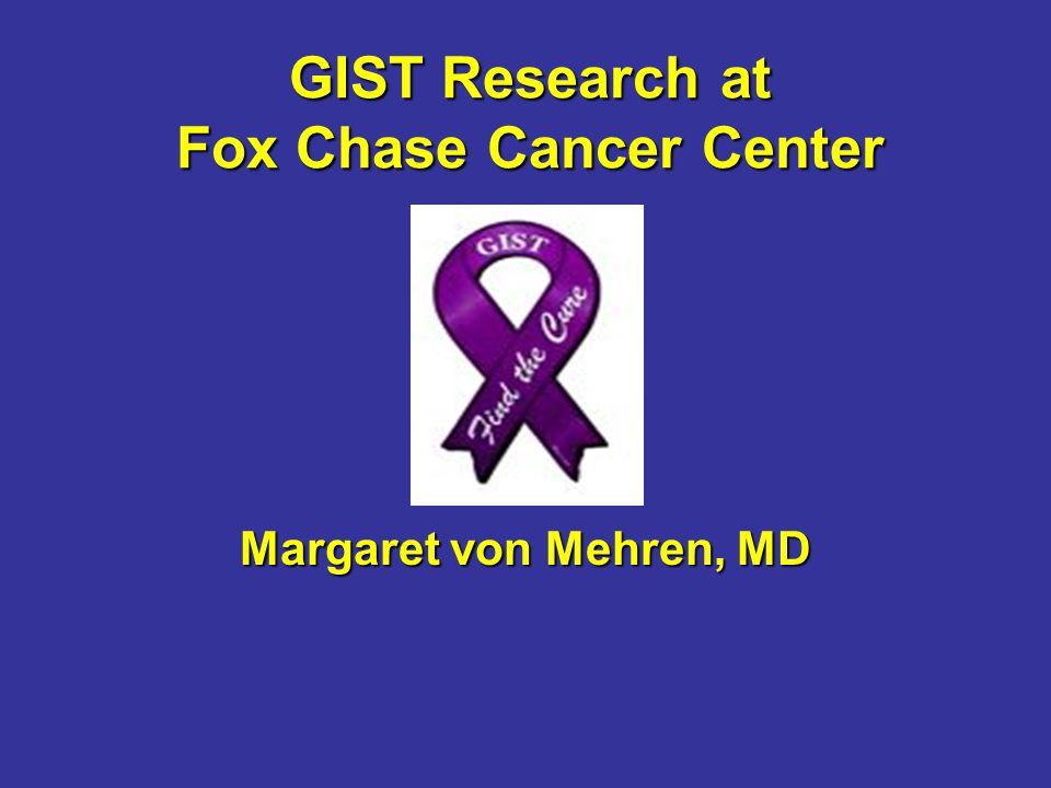 GIST Research at Fox Chase Cancer Center Margaret von Mehren, MD
