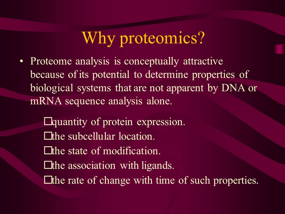 Say What. Proteome - the entire complement of proteins produced in a cell or organism.